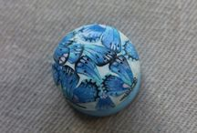 Hand painted door knobs