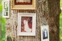 Use Pictures To Decorate Your Event / Make your guests feel like part of the fam by setting up little displays of personal photos at your event. Old family wedding pictures would be perfect to decorate with if you're planning a vintage style outdoor wedding!