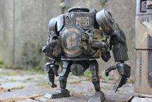 metal art robot
