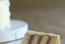 Almond, cherry and white chockolate cake