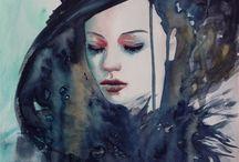 My Watercolor Portraits / Watercolor portraits by Beata Belanszky Demko, me :-)