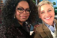 Oprah & Ellen / Favorite USA tv Hosts.