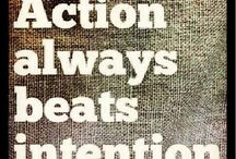 """ACTION (One Little Word - 2014) / Ideas and inspiration based on my """"One Little Word"""" for 2014"""