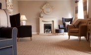 Stunning Stripe / The stunning Equinox Stripe carpet is a solution dyed polypropylene carpet which has an impervious membrane and a foam backing. It also includes an anti-microbial coating.