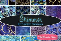 "Blue Shimmer by Timeless Treasures / ""Blue Shimmer"" by Chong-a Hwang for Timeless Treasures Fabrics"