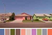 colour palettes based on film stills