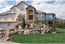 Curb Appeal / This beautiful house needed striking landscaping in the front of their house. We enhanced this area with beautiful stones and trees to give the homeowners exactly what they were looking for. Find us at coloradodecks.com