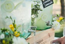 Babyshower / simple • salad in mason jars • fresh snacks • lemonade / punch • greenery • garden style