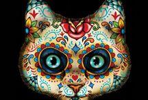Sugar skull animaux / Dessin calavera
