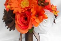 Orange White Wedding