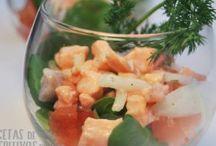 Aperitivos en Vasitos / Aperitivos que podemos preparar y presentar en pequeños vasitos para degustar con la familia y amigos.