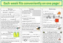 Maths homework and notebooks