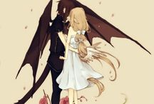 anime demons,faeries,angels
