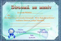 D semipersonaliz. liceu / Diplome scolare personalizate cu numele scolii, cu numele localitatii, cu numele judetului si cu numele directorului.
