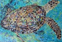 Sea Turtles / I have a passion for sea turtle conservation, and they're the subject of many of my paintings.