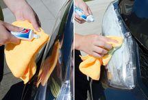 Curățare  masina faruri