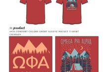 Omega Phi Alpha / Omega Phi Alpha custom shirt designs #omegaphialpha #opa #ofa  For more information on screen printing or to get a proof for your next shirt order, visit www.jcgapparel.com