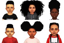 Toodlers hair girl and boy cc the Sims 4