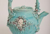 Artistic pottery ceramic raku creations / Everything unique made of clay, raku, porcelain. Pottery