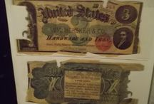 19th & early 20th Century Advertising Notes / Confederate real and fake currency used for advertising after the civil war