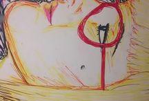 ILUSTRACIONES RUDESMALL / ilustración, color, retrato, amorfo, expresión