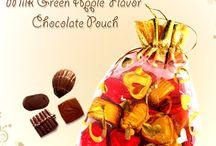 Milk Green Apple Flavor Chocolate Pouch