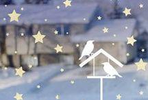 Výzdoba oken zima