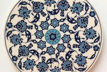 Tin Glazed Pottery / China ~ Tile Painting ~ Tin Glazed Pottery ~ Faience ~ Majolica ~ Chinaware ~ Çini