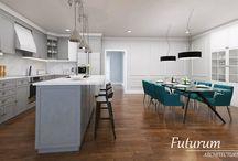 Kitchen and living room, Rheinbeck, New York Futurum Architecture / www.futurumarchitecture.eu
