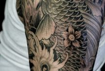 tatuajes orientales carpas y dragones