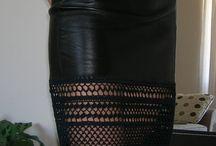 кожа и вязание