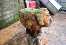Chainsaw art Carving Ideas / Chainsaw wood carving for beginners and professional ideas http://www.sculpturesurbois.info/