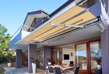 SUNRAIN® Awning / The first in the Contemporary Series of Awnings, the LUXAFLEX® SUNRAIN®1 Awning provides protection from the rain or the harsh sun.