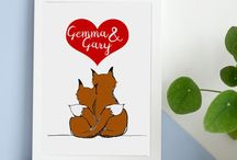 Be My Valentine / Valentine cards and prints for your loved ones