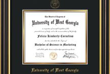 University of West Georgia - UWG - Diploma Frames and Graduation Gifts! / Official UWG Diploma frames. Exquisitely crafted to exacting specifications for the UWG diploma. Custom framed using hardwood mouldings and all archival materials, including UV glass to prevent fading from sunlight AND indoor incandescent lighting! Each frame exceeds Library of Congress standards for document preservation and includes a 100% lifetime guarantee, ensuring that a hard-earned achievement will be honored and protected for generations. Makes a thoughtful and unique graduation gift!