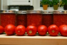 Canning / Preserving home grown vegetables and fruits / by Yolanda Iding