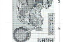 borduurpatroon motor