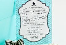 Tiffany themed shower ideas / Baby shower