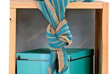 шарф капюшон в полоску