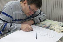 Kunstenaar: Ingmar W. / Ik ben Ingmar en ik werk bij Atelier de Voordam; ik maak Kunst en daar ben ik trots op!