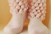 Обувь,носки крючком