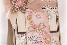 vinter kort m- knapper