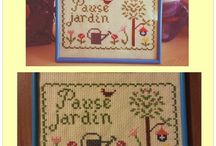my cross stitch works