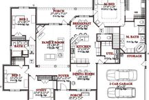 RANCH HOUSE FLOOR PLANS / Going to be building a new house in the near future and trying to find the perfect mix of a ranch level plan w/ not to much sq footage.  / by April .