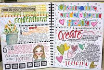 Art Journaling / Hi! I'm Georgia Lynne. Pinterest is one of the many places I collect ideas to stimulate my creativity. If you like this board, check out the site: http://georgialynnedesigns.com