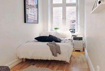 Long narrow bedroom