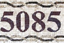 Mosaic House Numbers / Handmade Custom Mosaic House Number Address Plaque