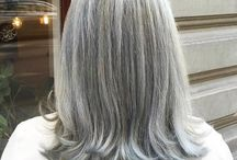 Medium gray hair