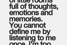 """Quotes & Mixed Emotions. / """"I am made of little rooms full of thoughts, emotions and memories."""""""