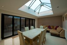 West Sussex Private Residence - Case Study / Schuco Folding Sliding Doors x 2 & Structural Glass Beam Rooflight have been installed to this case study.